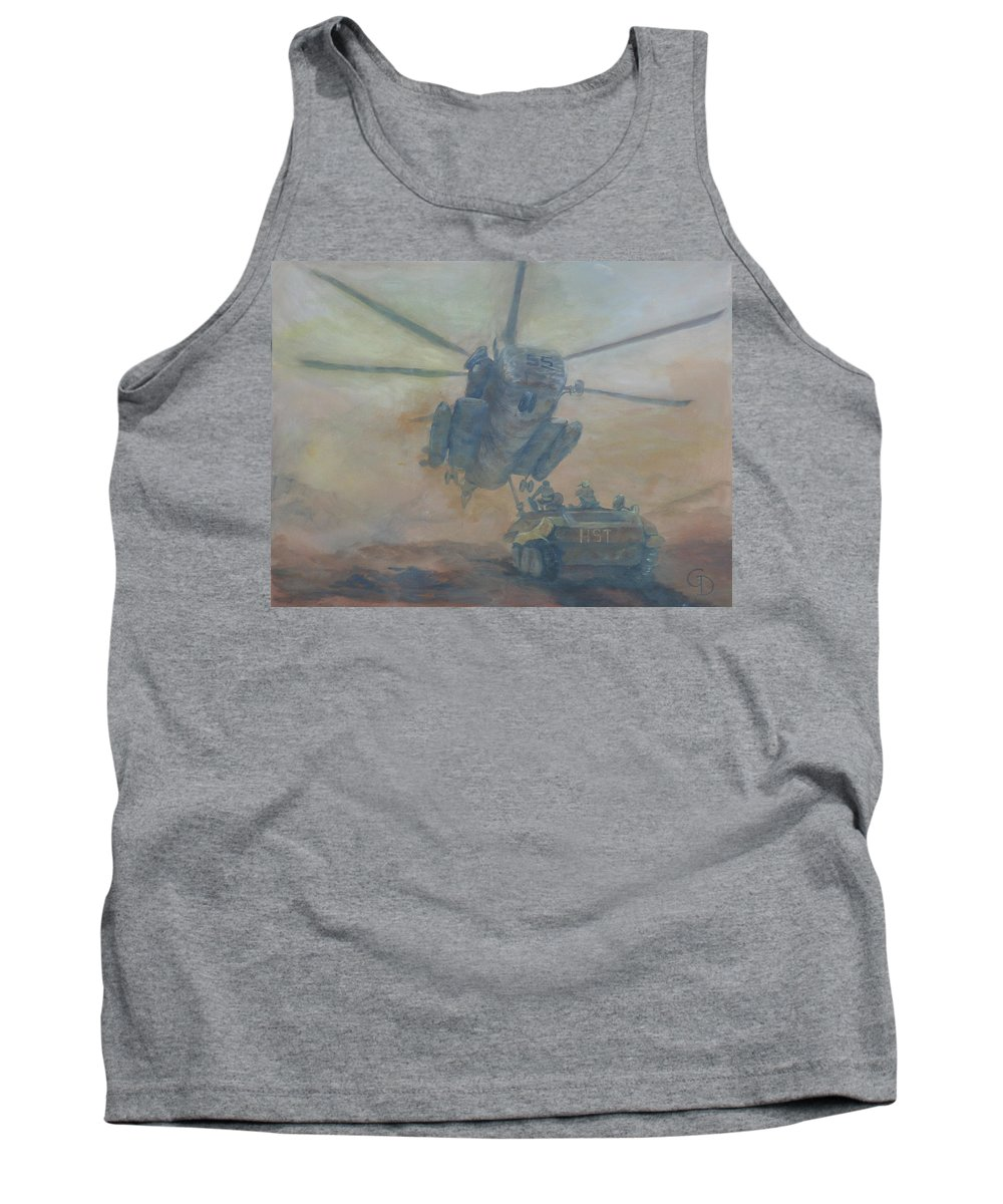 Military Tank Top featuring the painting Mom I'm Hungry by Gail Daley