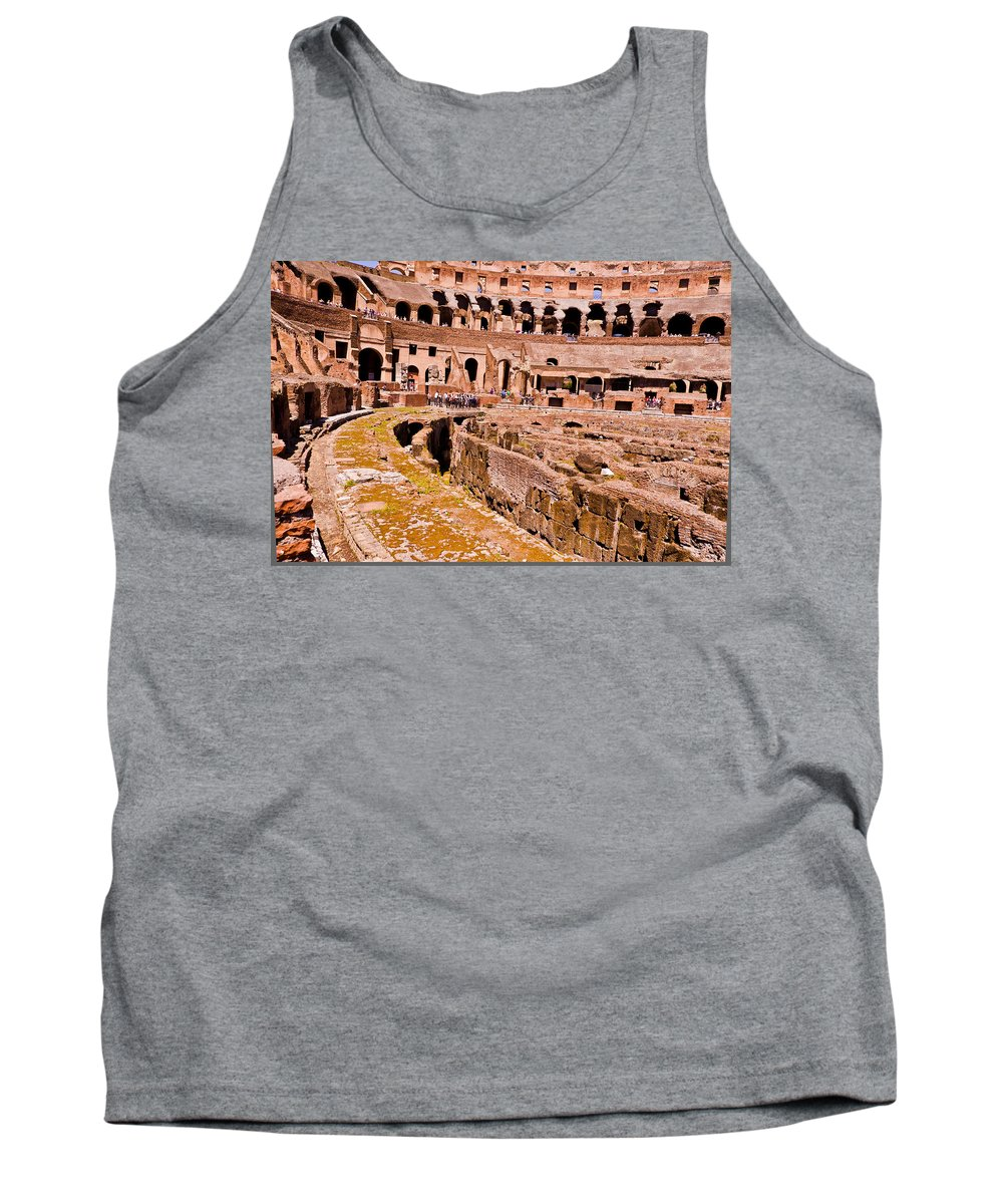Rome Tank Top featuring the photograph Roman Coliseum by Jon Berghoff