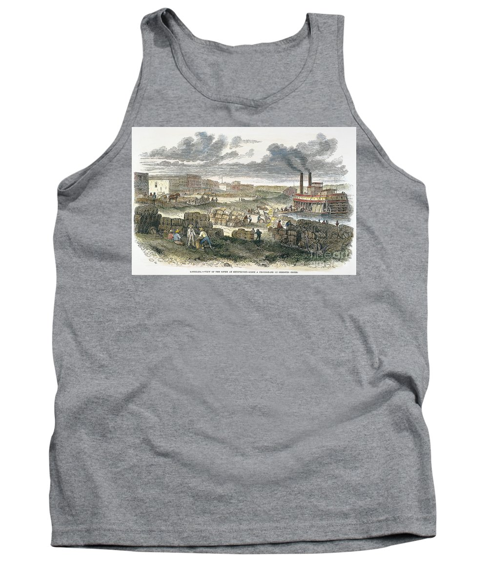 1872 Tank Top featuring the photograph Shreveport Levee, 1872 by Granger