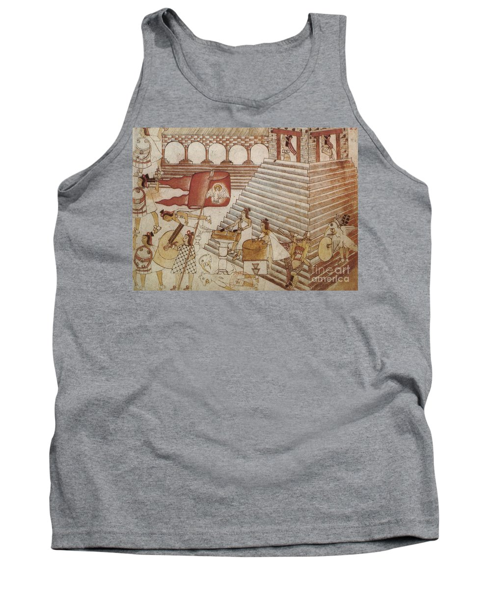 Art Tank Top featuring the photograph Siege Of Tenochtitlan 1521 by Photo Researchers