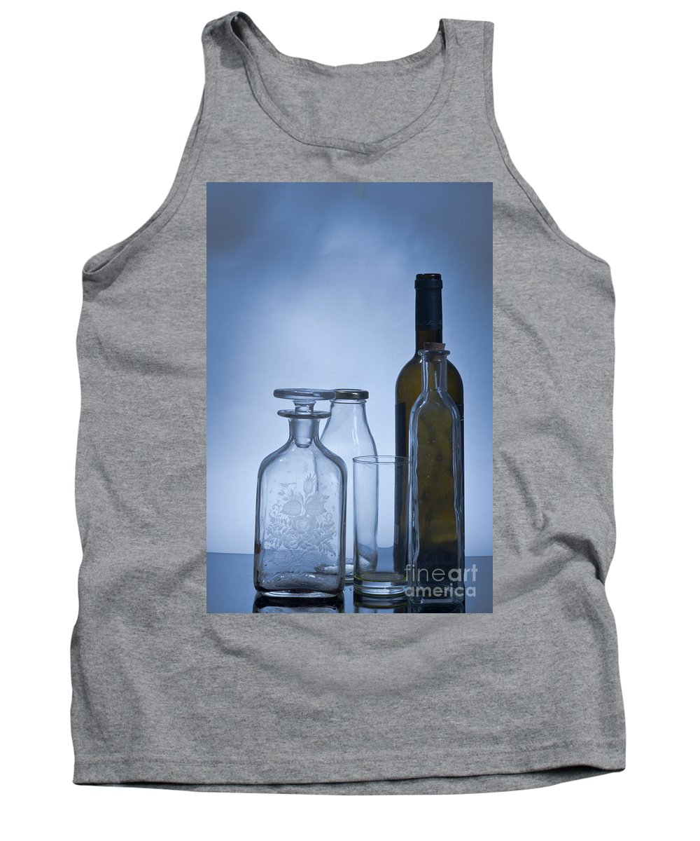 Assortment Tank Top featuring the photograph Still Life Of Bottles by Ilan Amihai