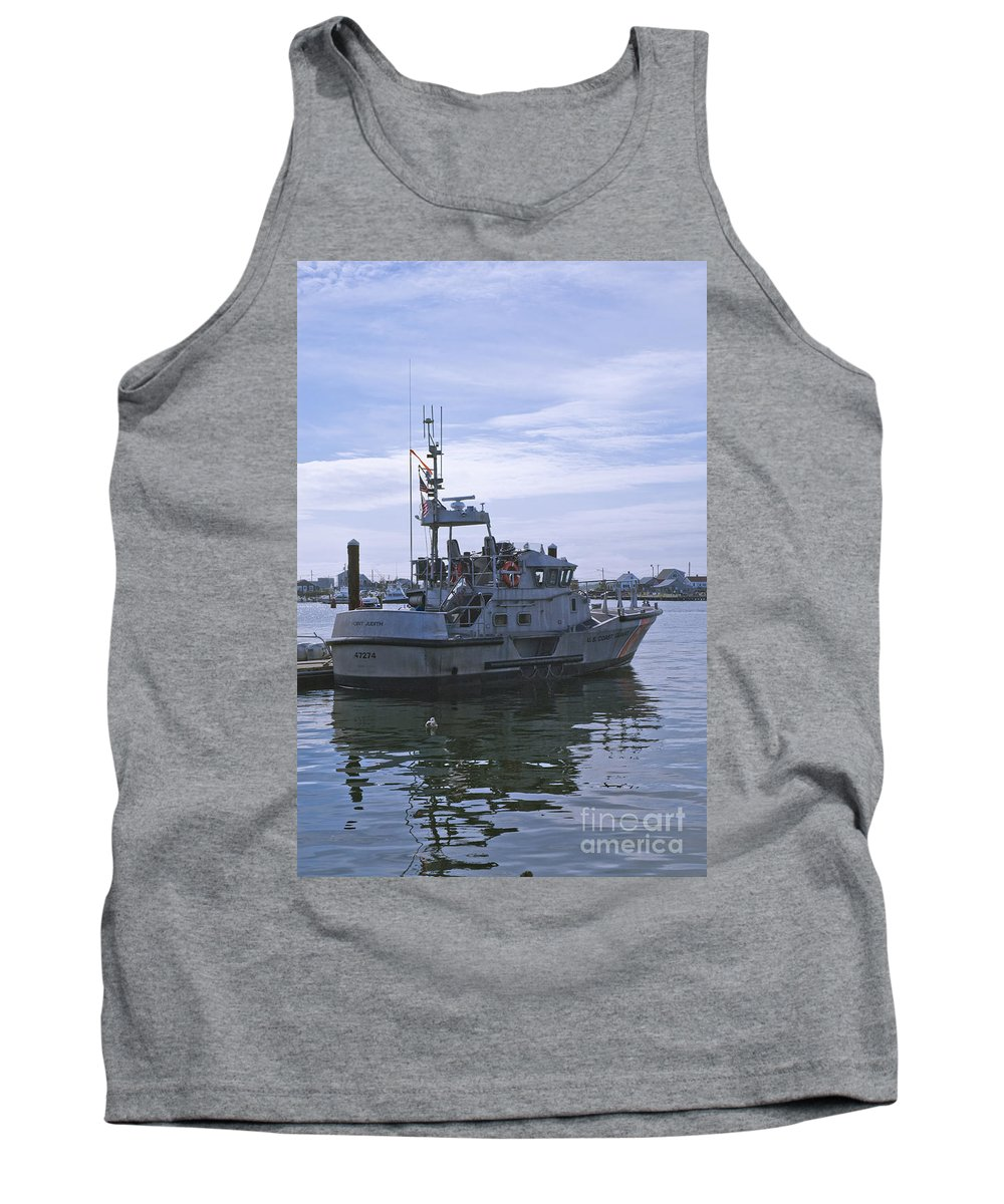 Uscg Tank Top featuring the photograph Uscg 47' Lifeboat - 1 by Tim Mulina