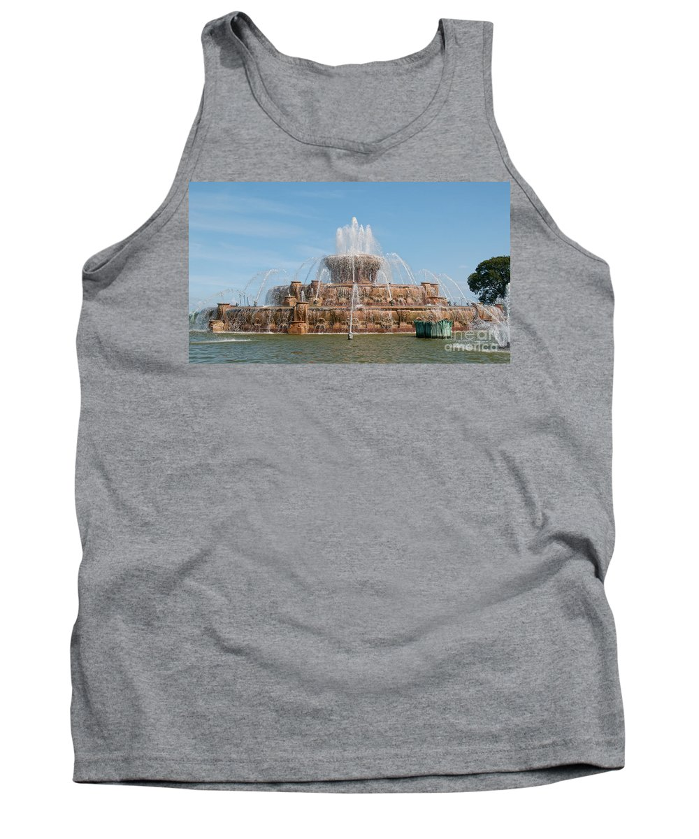 Chicago Tank Top featuring the photograph Chicago City Scenes by Carol Ailles