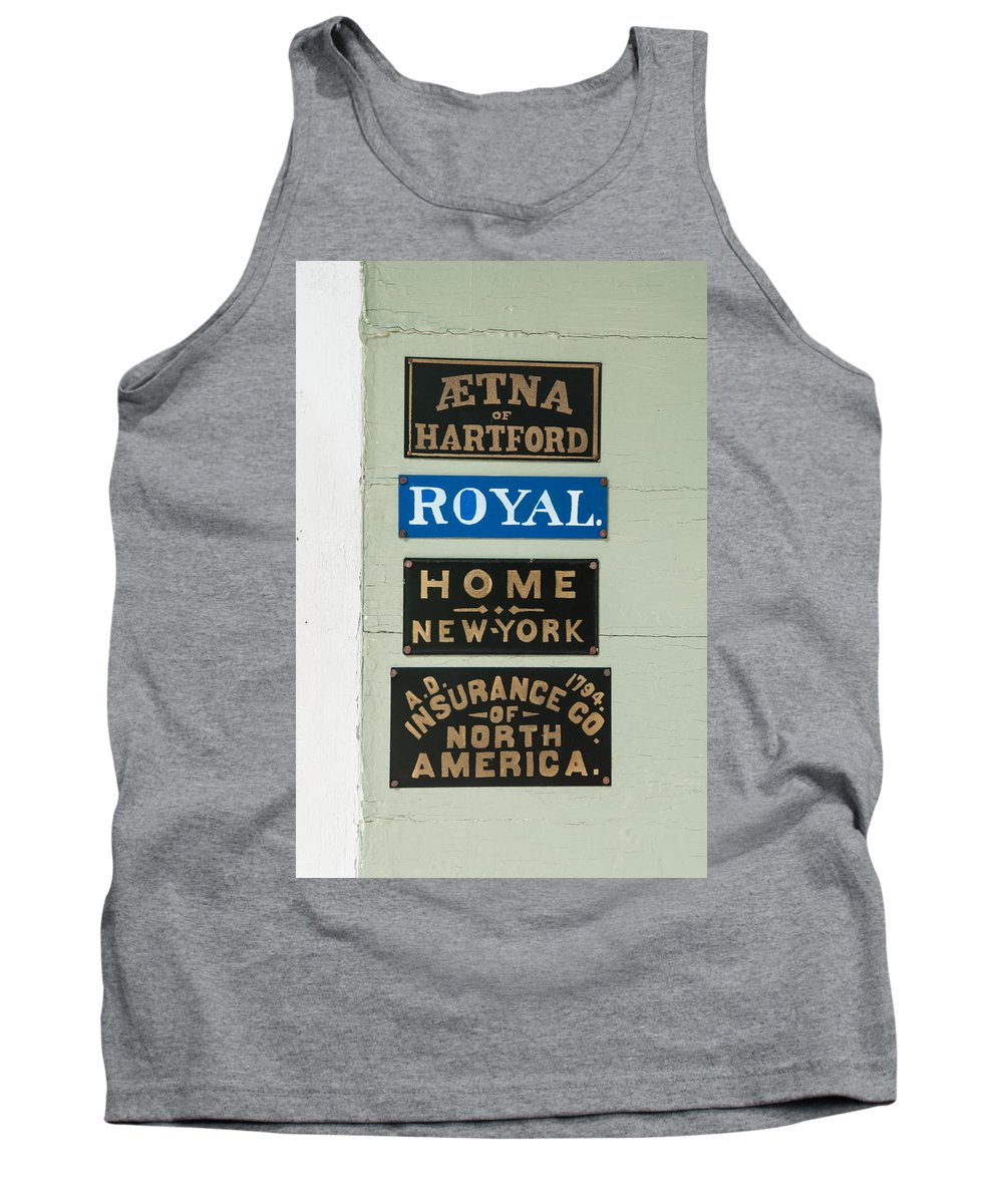 Guy Whiteley Photography Tank Top featuring the photograph 1825 Insurance Agency by Guy Whiteley