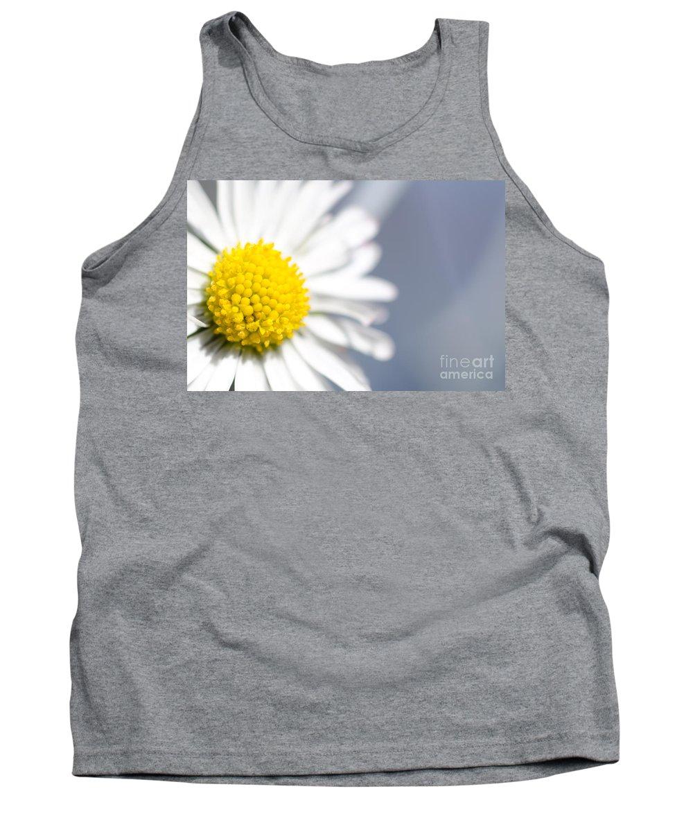 Flower Tank Top featuring the photograph Daisy Flower by Mats Silvan