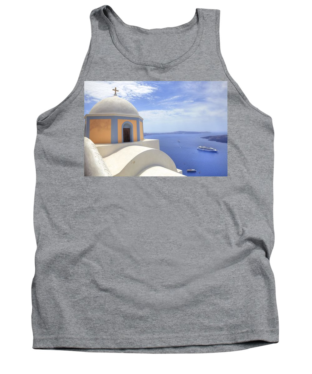Fira Tank Top featuring the photograph Fira - Santorini by Joana Kruse