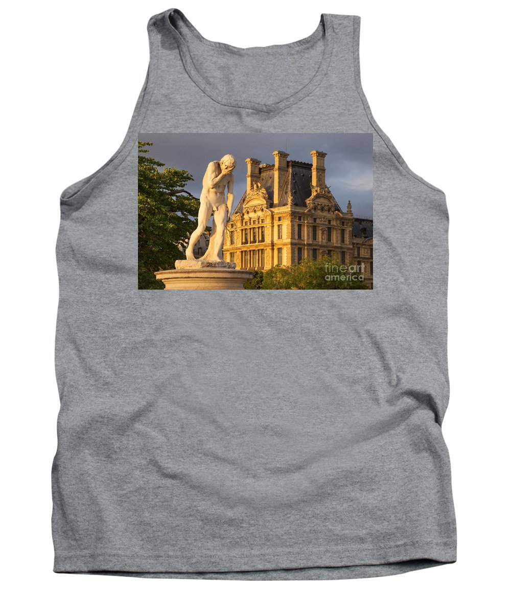 Architecture Tank Top featuring the photograph Jardin Des Tuileries by Brian Jannsen
