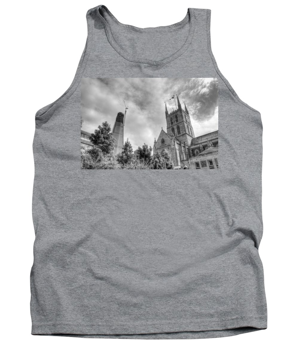 Shard Tank Top featuring the photograph New And Old by Chris Day
