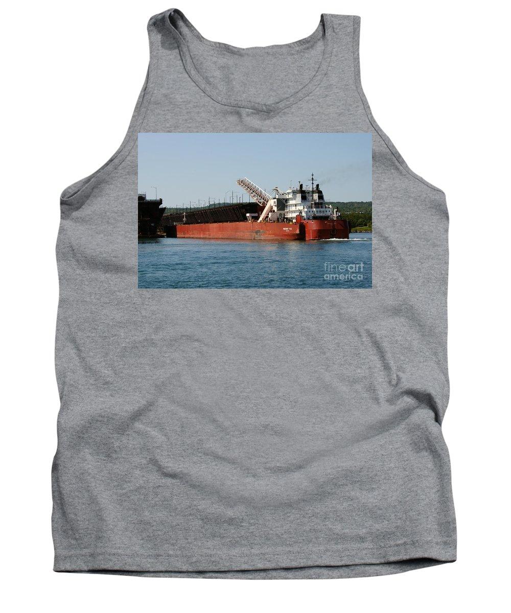 Ship Tank Top featuring the photograph Presque Isle Ship by Lori Tordsen