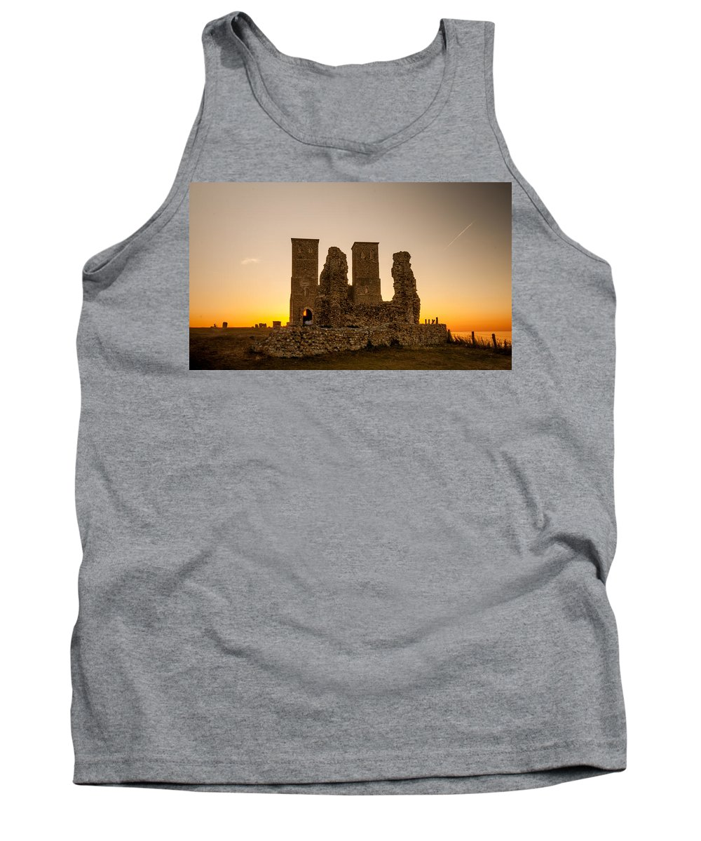 Church Tank Top featuring the photograph Reculver Towers by Dawn OConnor