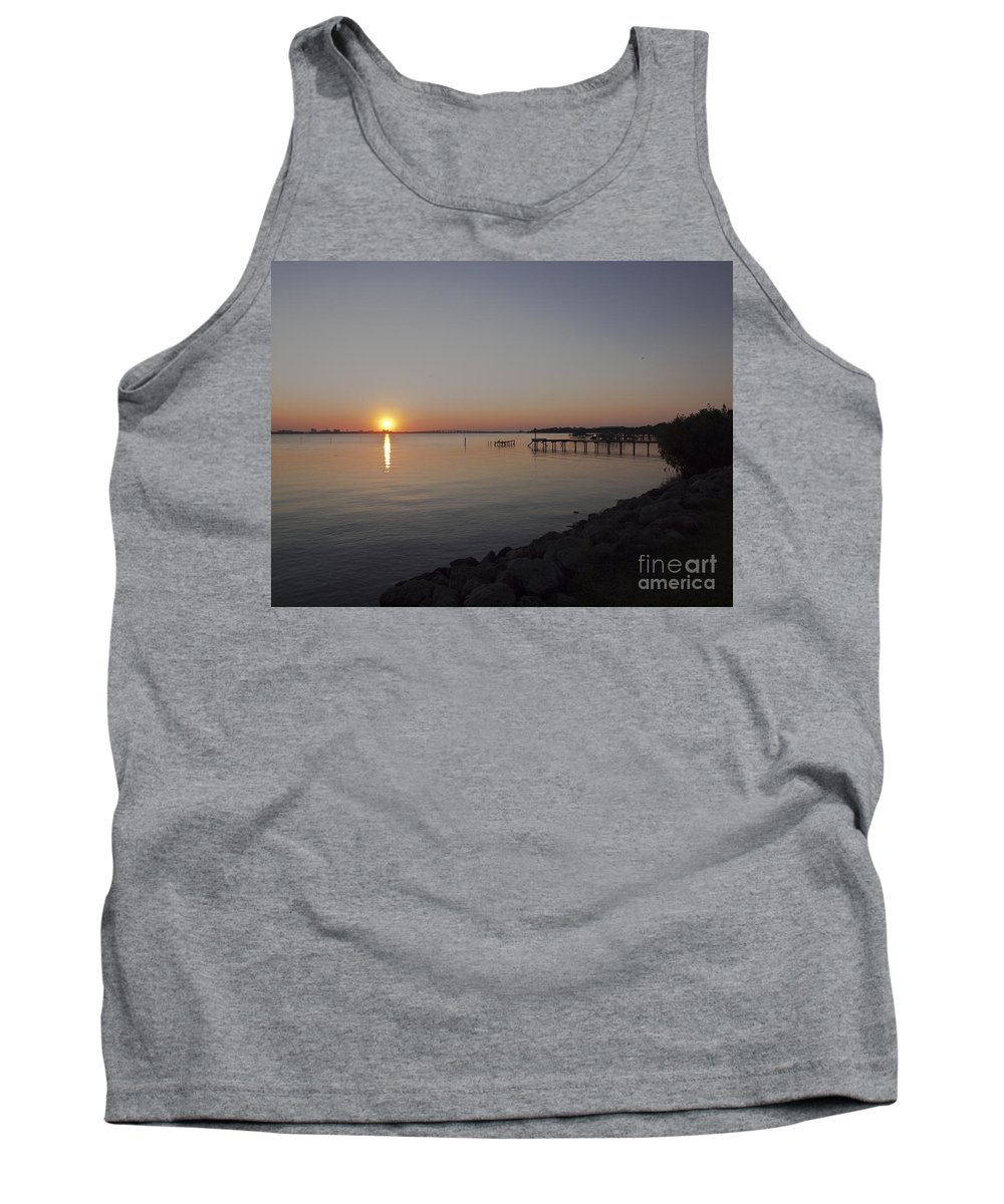 Evening Tank Top featuring the photograph Evening On The Indian River Lagoon by Allan Hughes