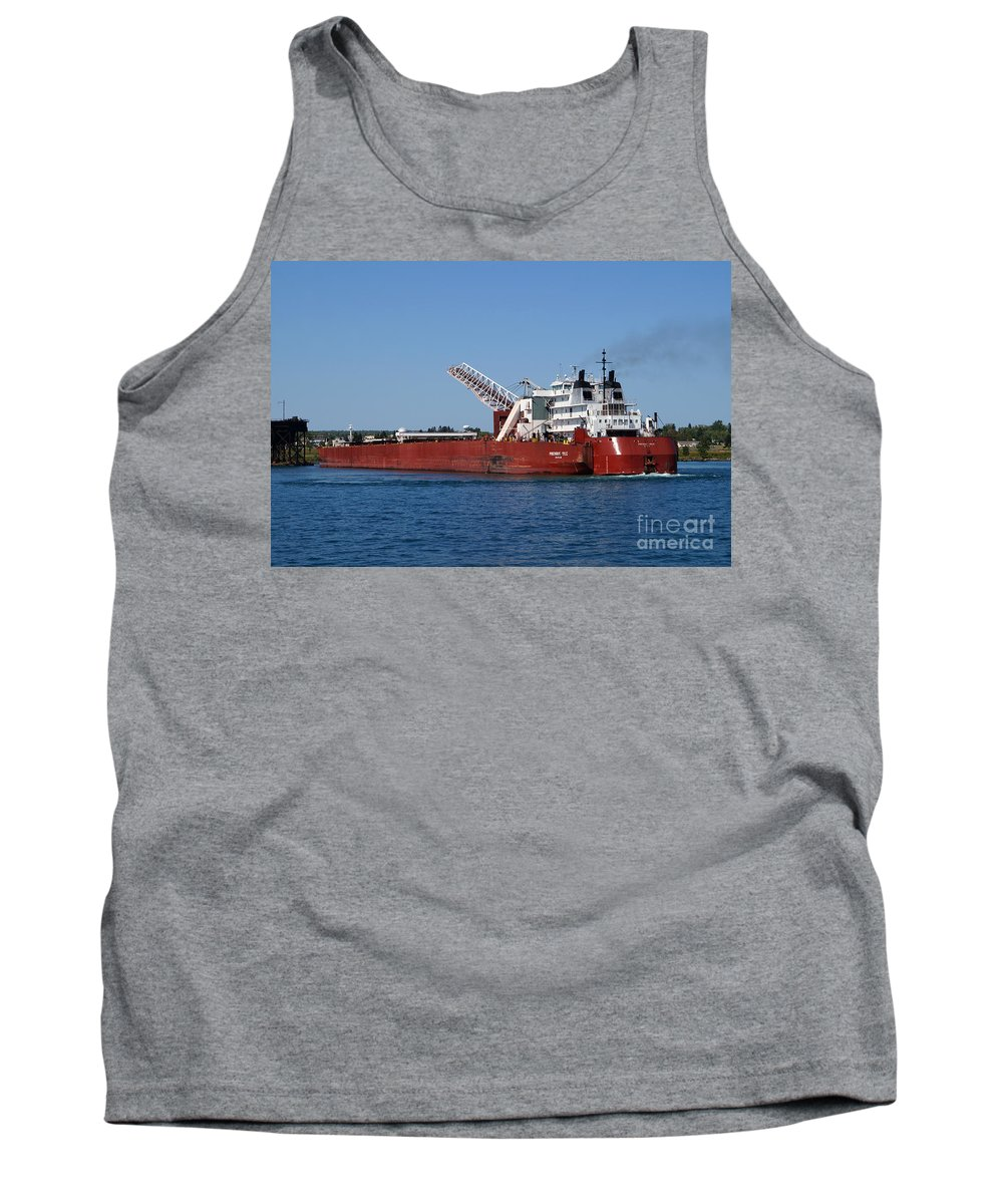 Duluth Tank Top featuring the photograph Presque Isle Ship by Lori Tordsen