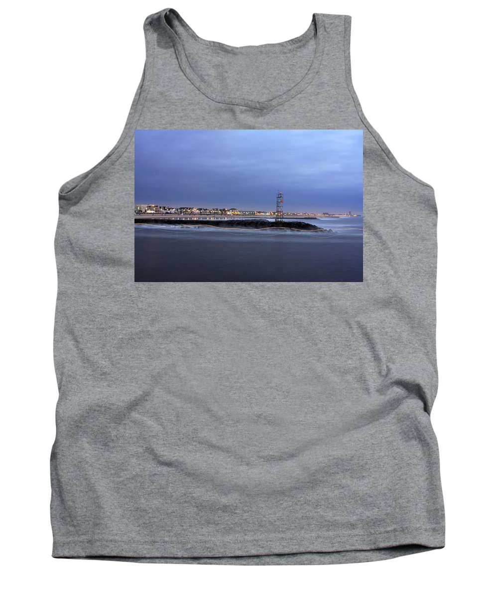 Light Trails Tank Top featuring the photograph a Boat's Path by Jeff Bord