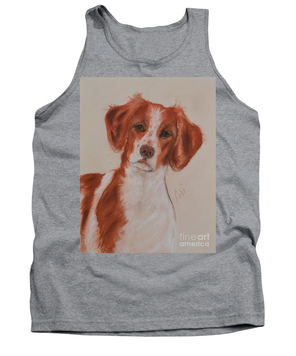 Brittany Tank Top featuring the drawing A Good Sport by Cori Solomon