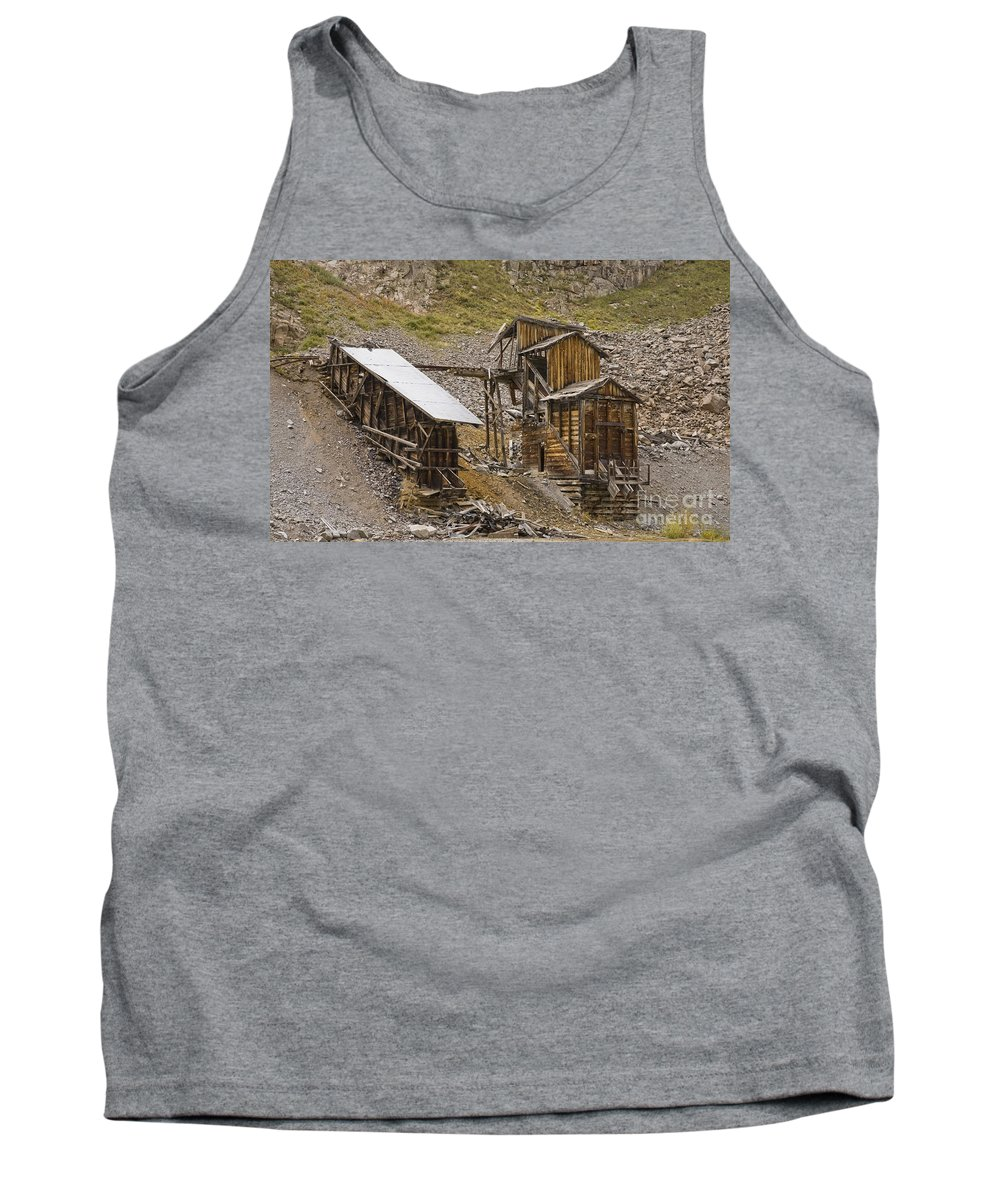 Western Buildings Tank Top featuring the photograph Abandoned Mine by Tim Mulina