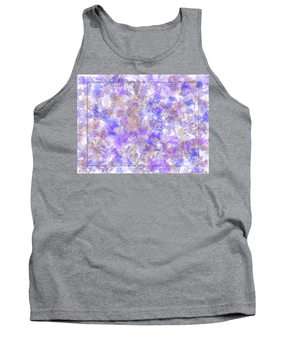 Abstract Tank Top featuring the digital art Abstract Purple Splatters by Debbie Portwood