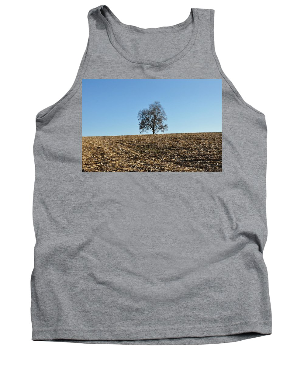 Harvest Tank Top featuring the photograph After The Harvest by Bill Cannon