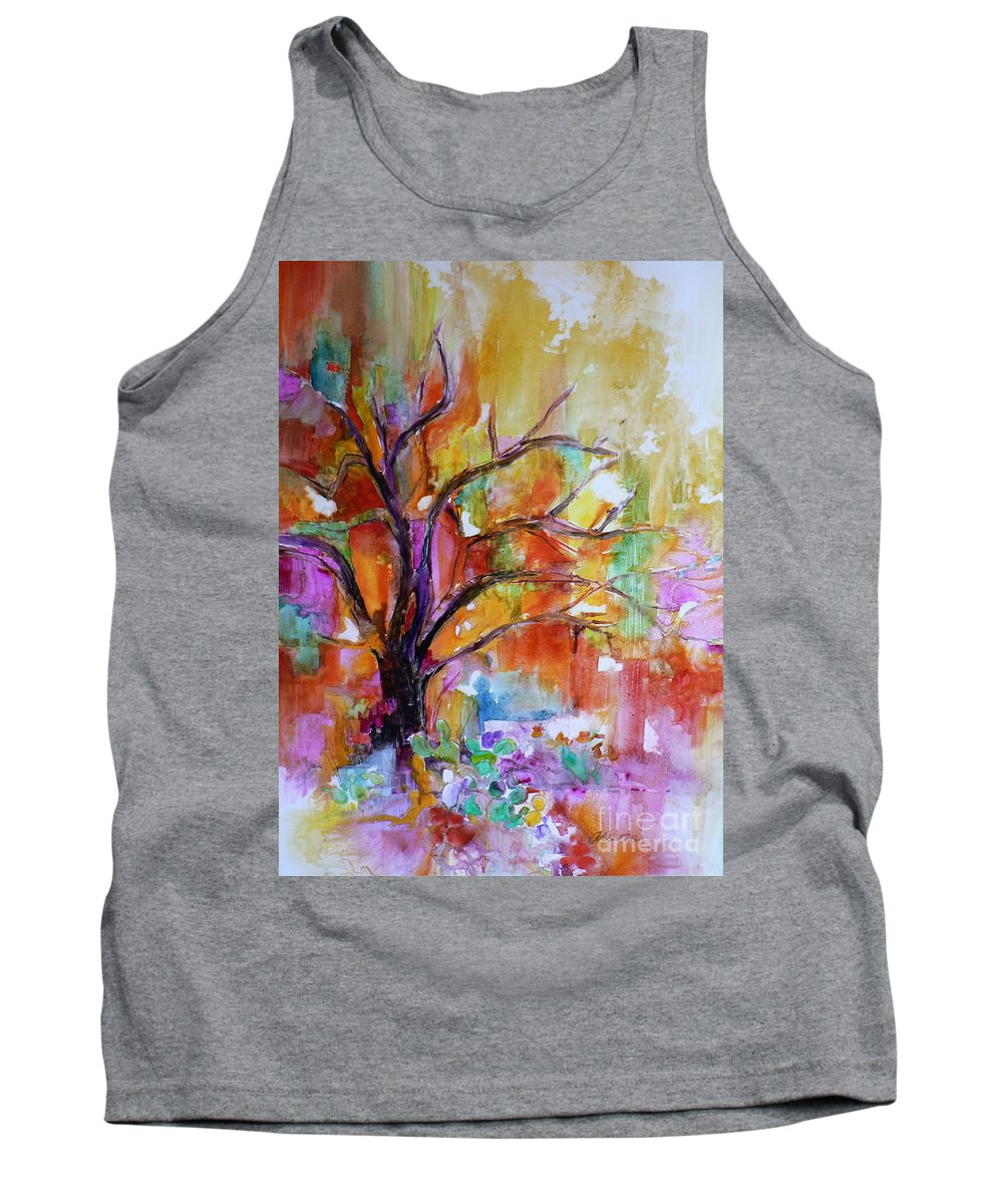 Mesquite Tank Top featuring the painting After The Rain by Catalina Rankin