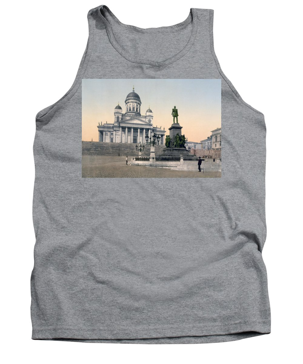 Helsinki Tank Top featuring the photograph Alexander II Memorial At Senate Square In Helsinki Finland by International Images