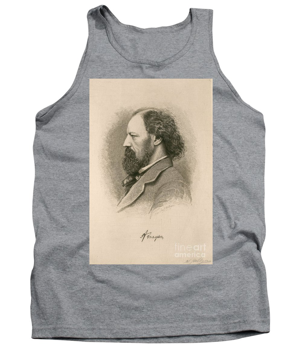 Alfred Tennyson Tank Top featuring the photograph Alfred, Lord Tennyson, English Poet by Photo Researchers