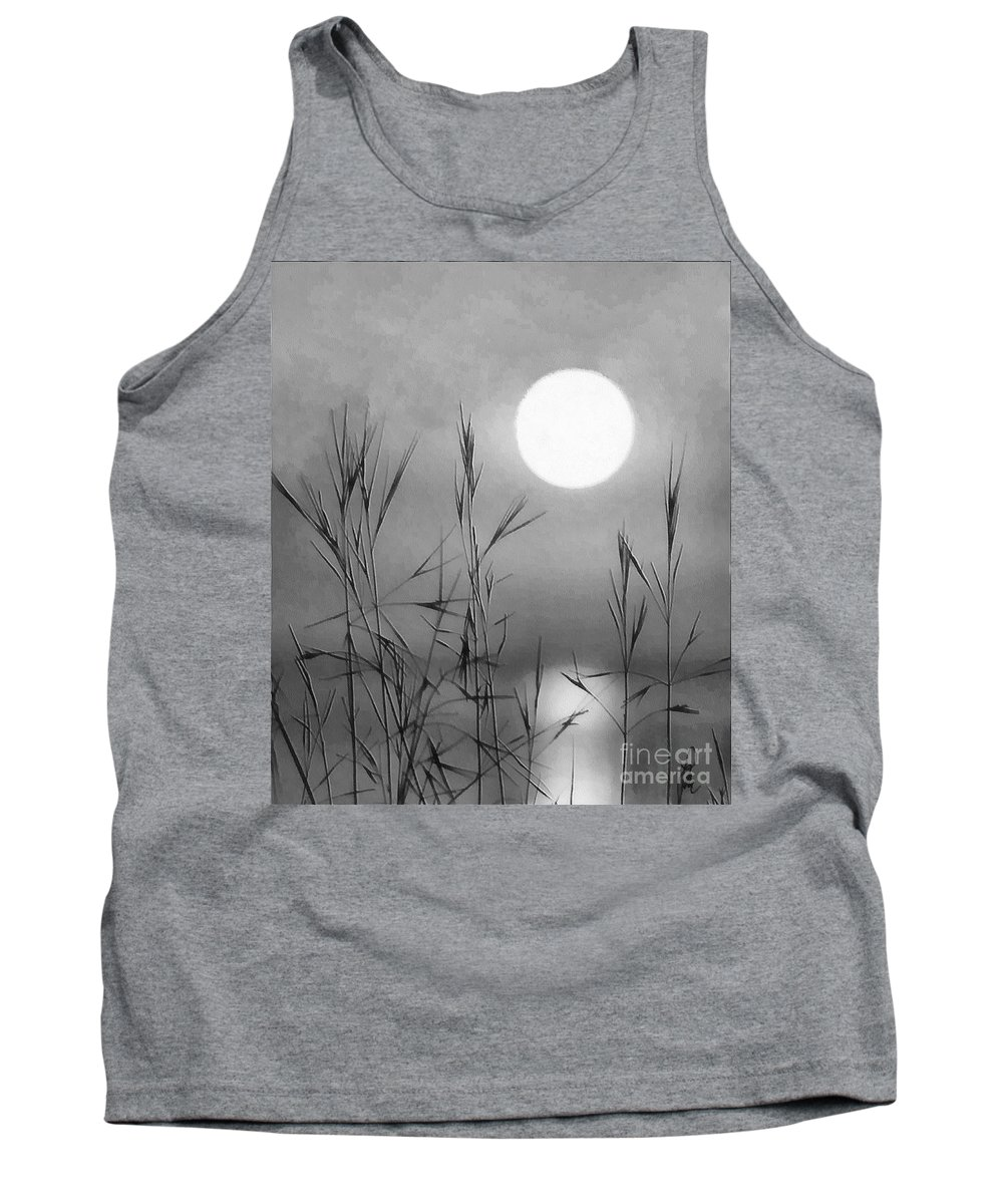 Full Moon Tank Top featuring the photograph At The Full Moon by Dragica Micki Fortuna