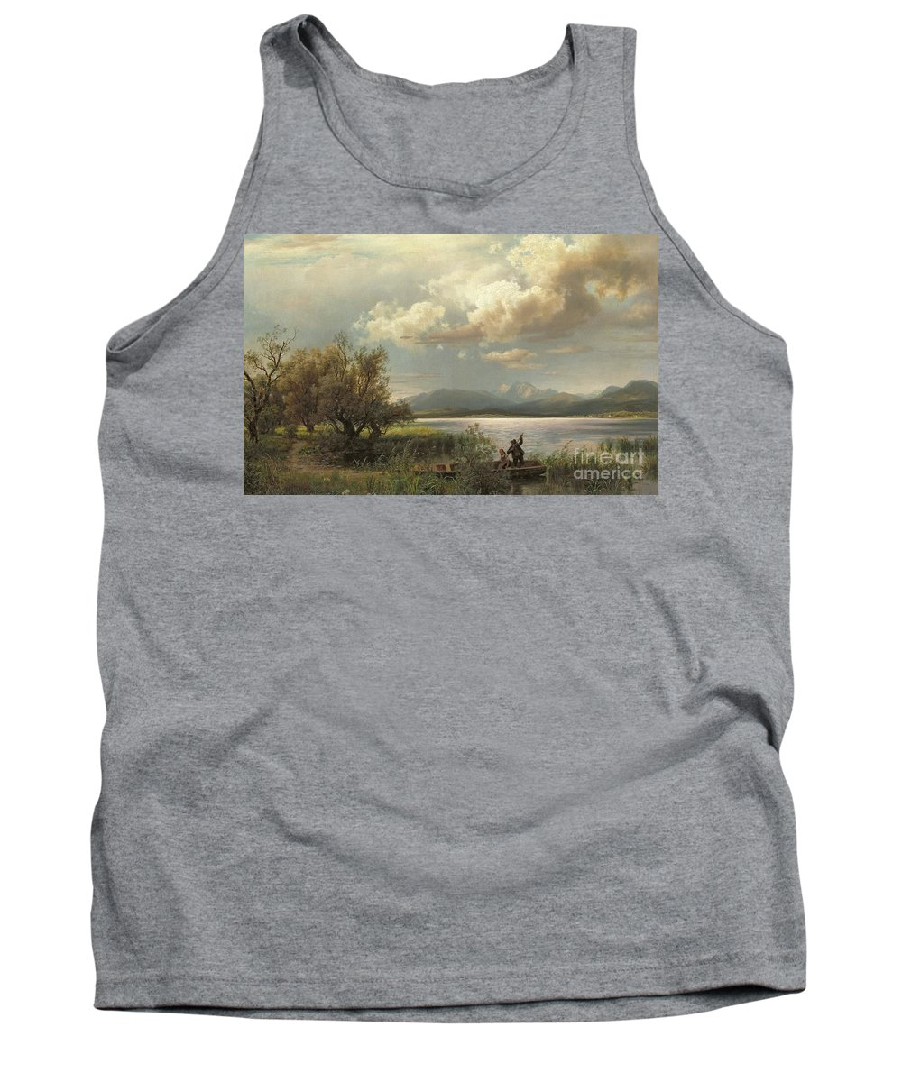 Bayern Landscape Tank Top featuring the painting Bayern Landscape by Augustus Wilhelm Leu