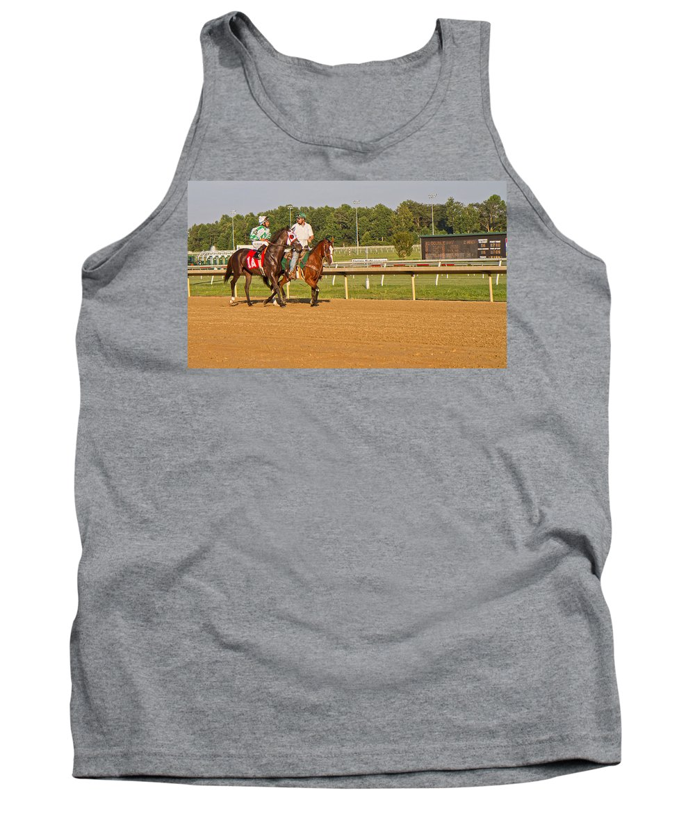 Horse Tank Top featuring the photograph Before The Race by Betsy Knapp