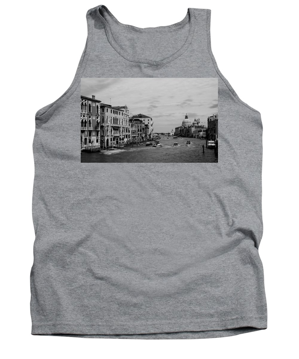 Venice Tank Top featuring the photograph Black And White Venice 3 by Andrew Fare