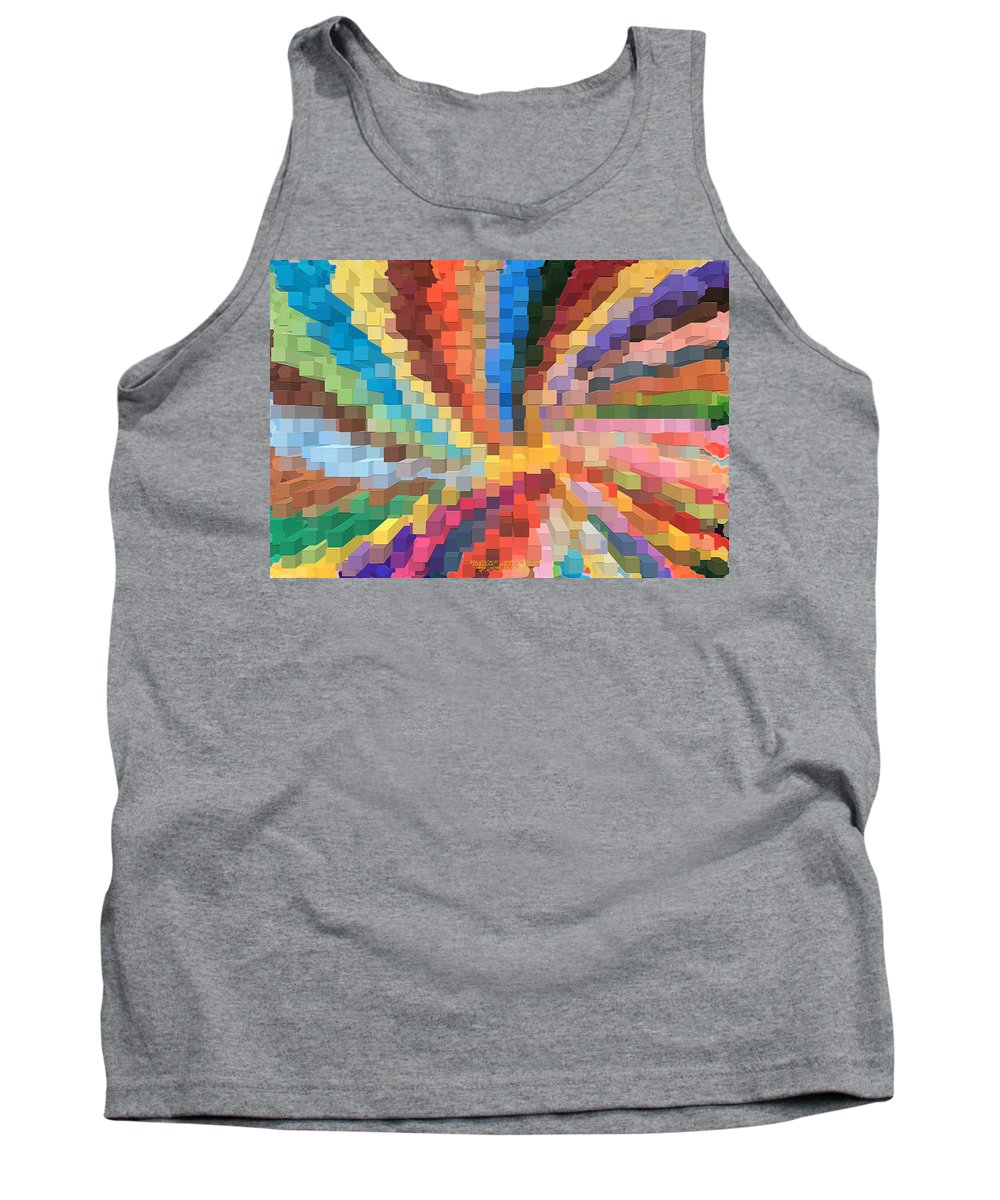 Original Tank Top featuring the digital art Blocks Of Color From A Pen And Ink Drawing by Carl Deaville