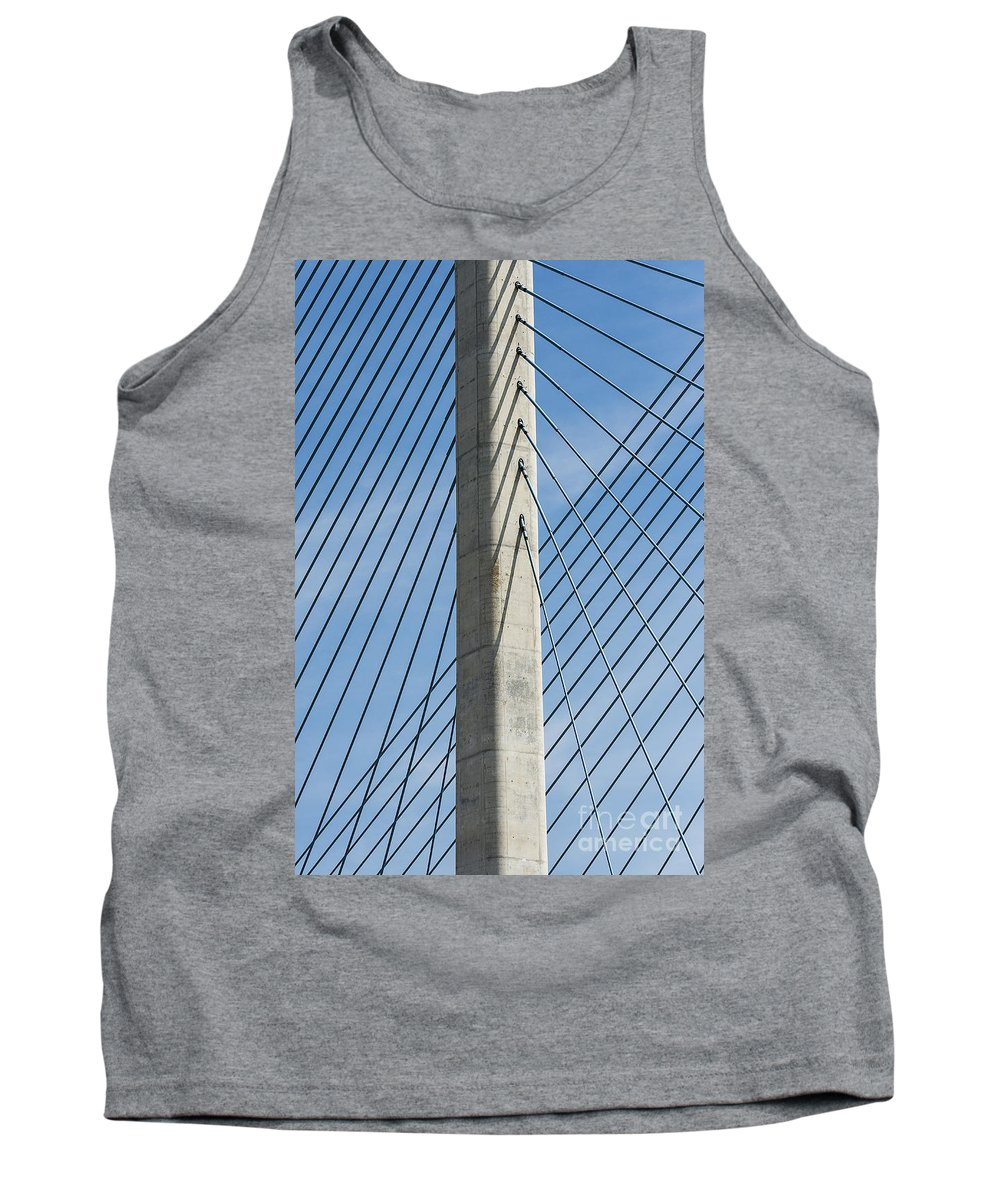 Coastal Highway Tank Top featuring the photograph Bridge Abstract by John Greim