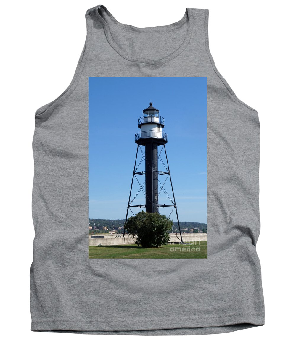 Lighthouses Tank Top featuring the photograph Bridge Lighthouse by Lori Tordsen