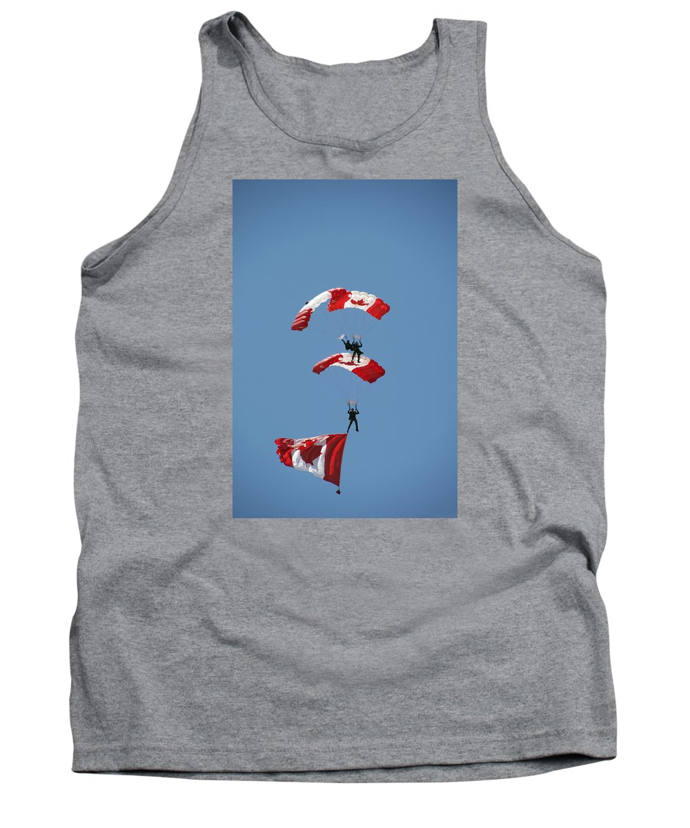 Army Tank Top featuring the photograph Canada Day Flight by Elaine Mikkelstrup
