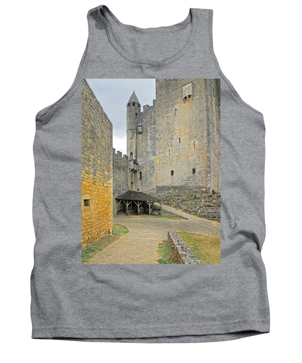 Castle Tank Top featuring the photograph Castle Interior Ground France by Dave Mills