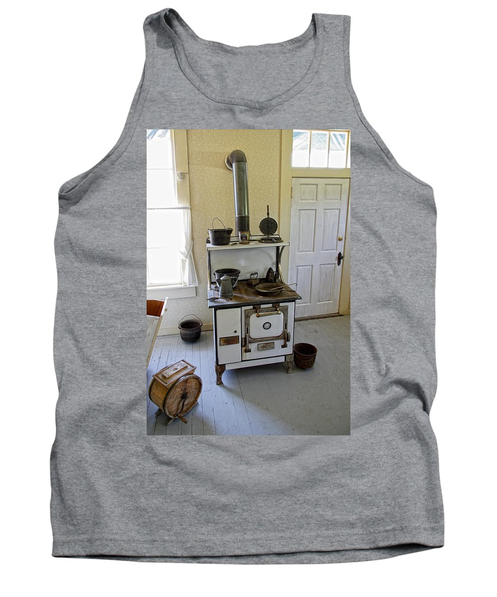 Stove Tank Top featuring the photograph Cataldo Mission Parish Stove by Daniel Hagerman