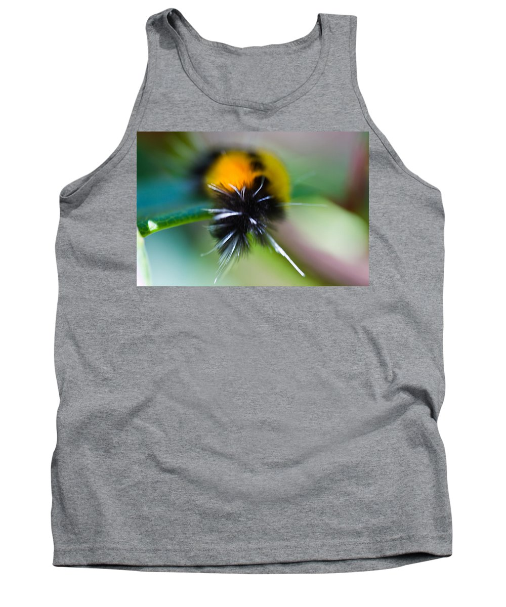 Caterpillar Tank Top featuring the photograph Caterpillar In Abstract by Marie Jamieson
