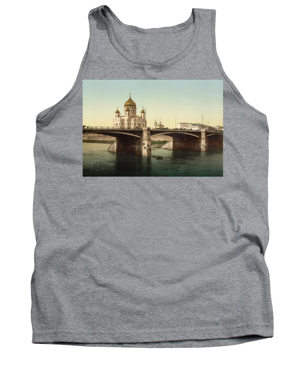 cathedral Of Christ The Saviour Tank Top featuring the photograph Cathedral Of Christ The Saviour - Moscow Russia by International Images