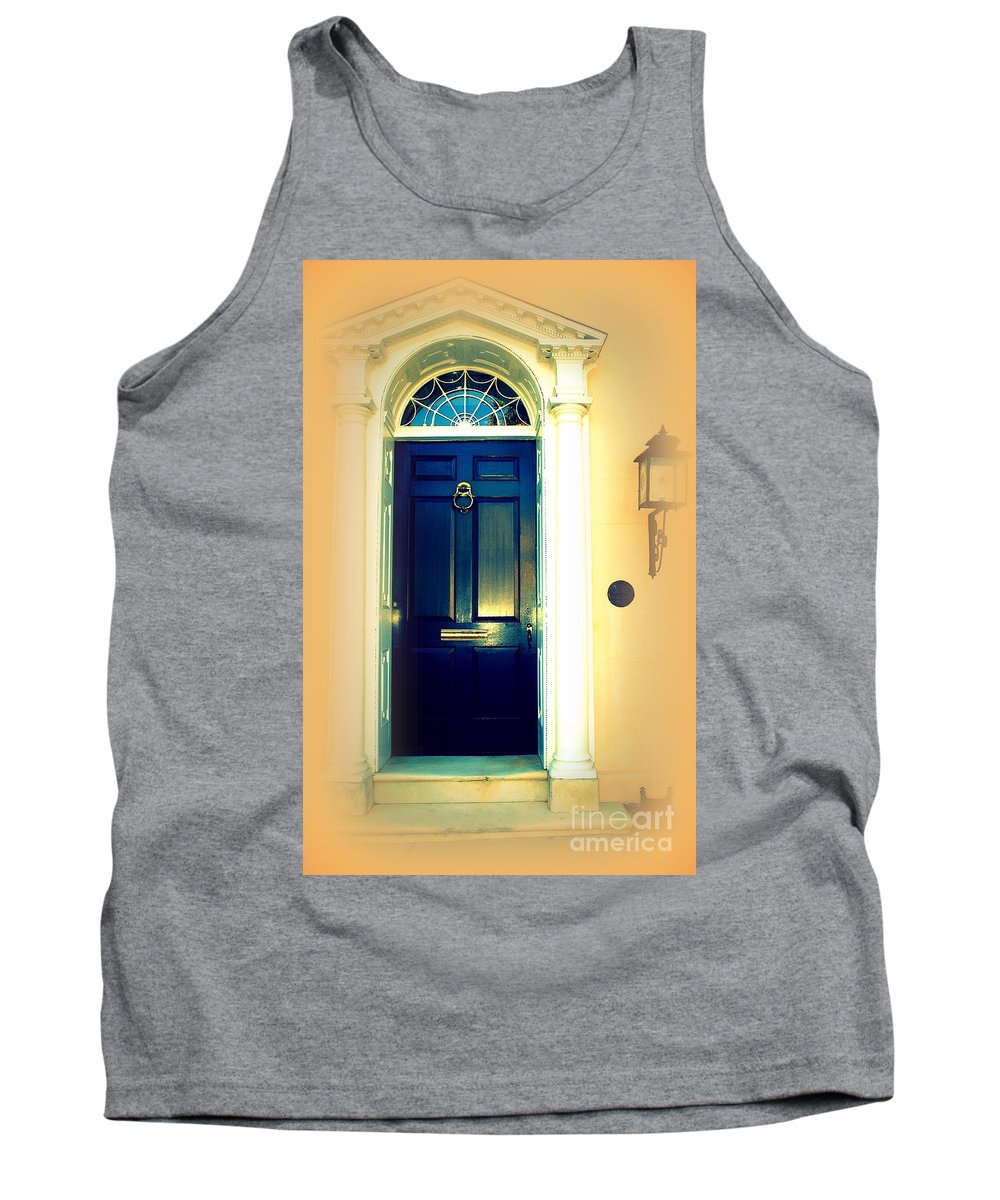 Charleston Tank Top featuring the photograph Charleston Door 3 by Susanne Van Hulst