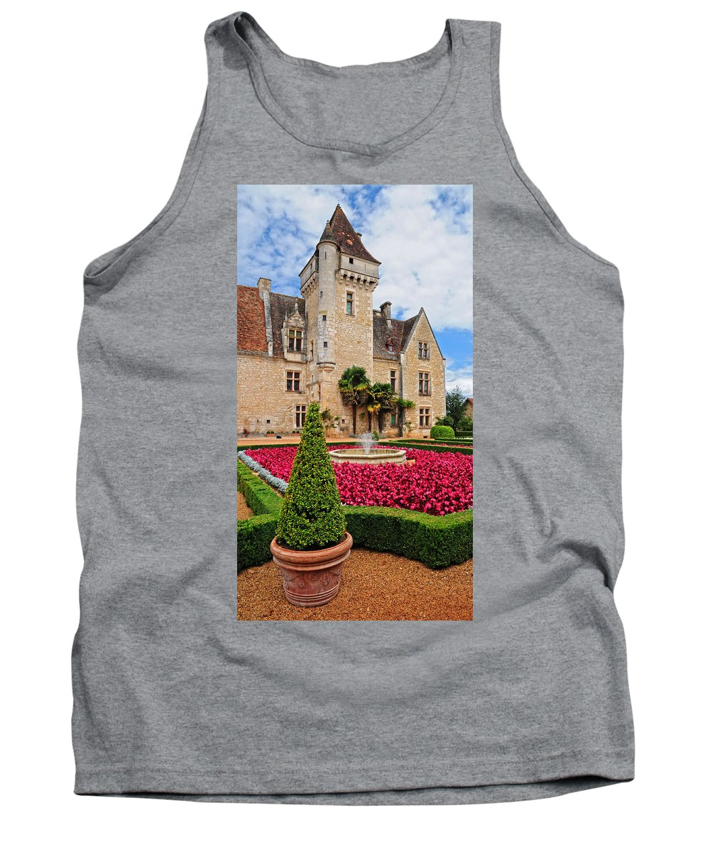 Chateau Tank Top featuring the photograph Chateau Des Milandes by Dave Mills