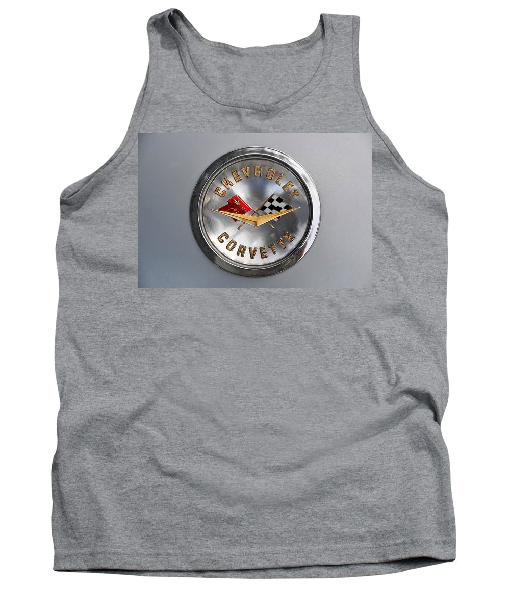 Fine Art Photography Tank Top featuring the photograph Chevy Racing Flags by David Lee Thompson
