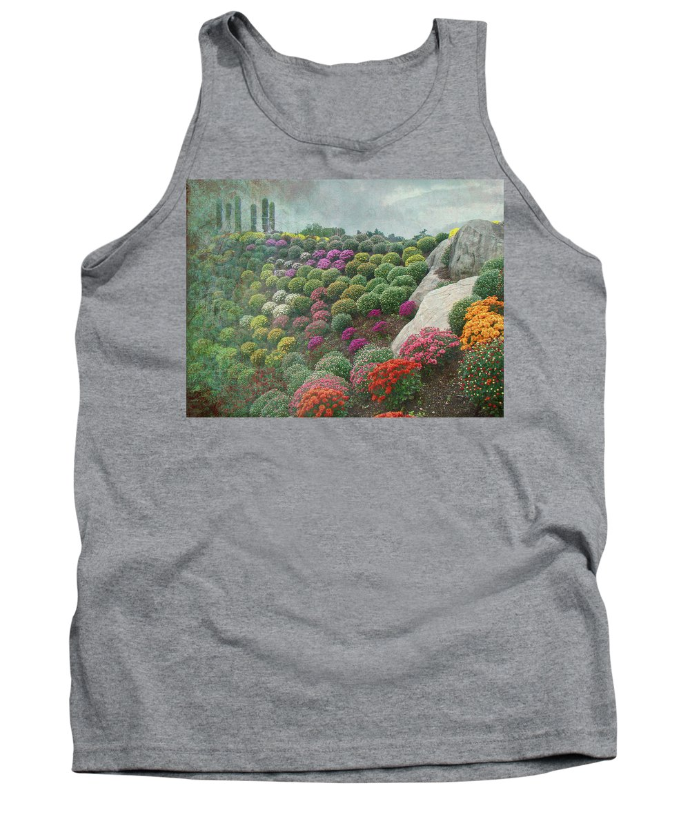 Chrysanthemum Tank Top featuring the photograph Chrysanthemum Garden - Ott's Greenhouse Schwenksville Pa by Mother Nature