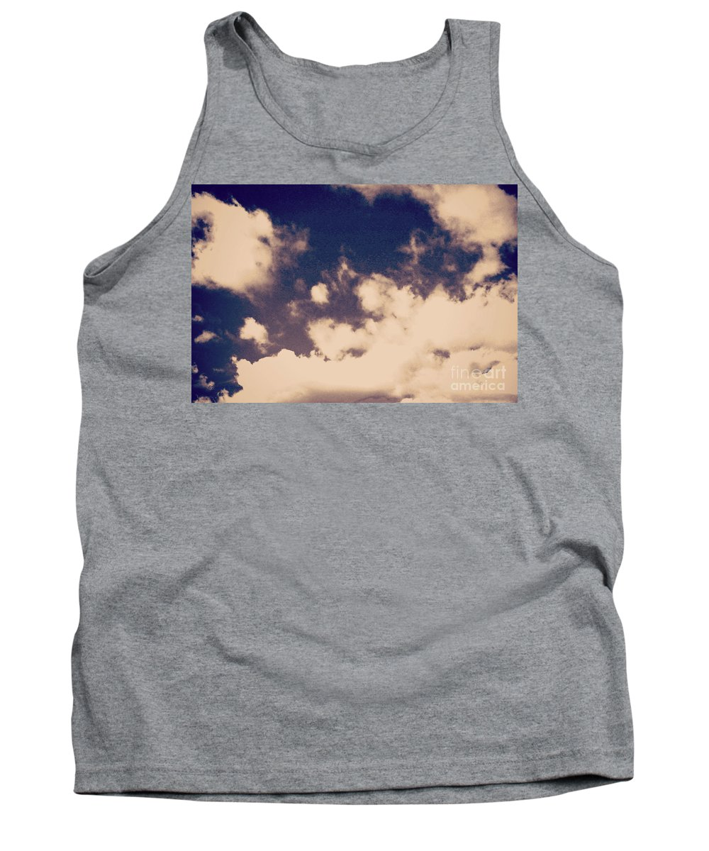 Clouds Digital Print Tank Top featuring the photograph Clouds-2 by Paulette B Wright
