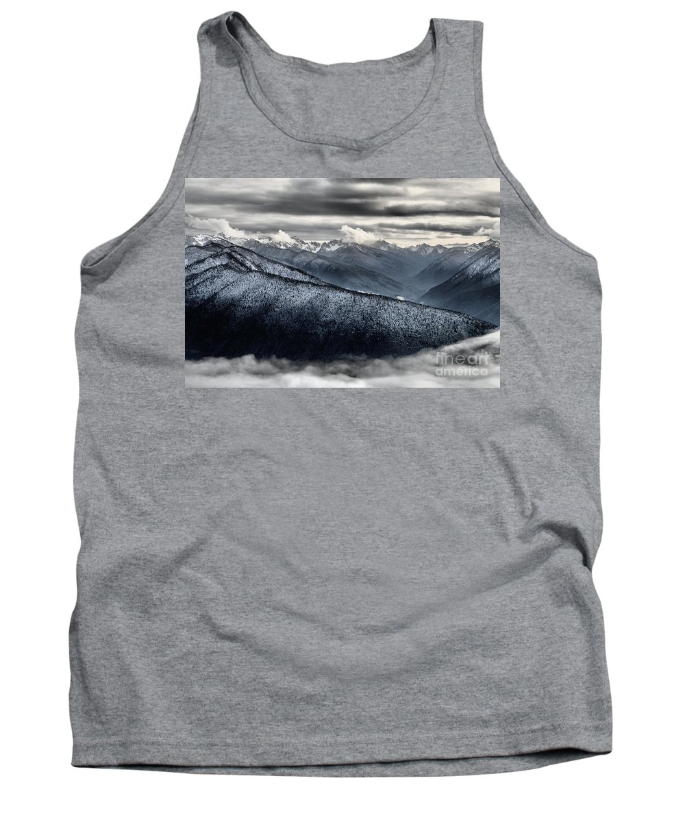 Hurricane Ridge Tank Top featuring the photograph Clouds In The Valley by Adam Jewell