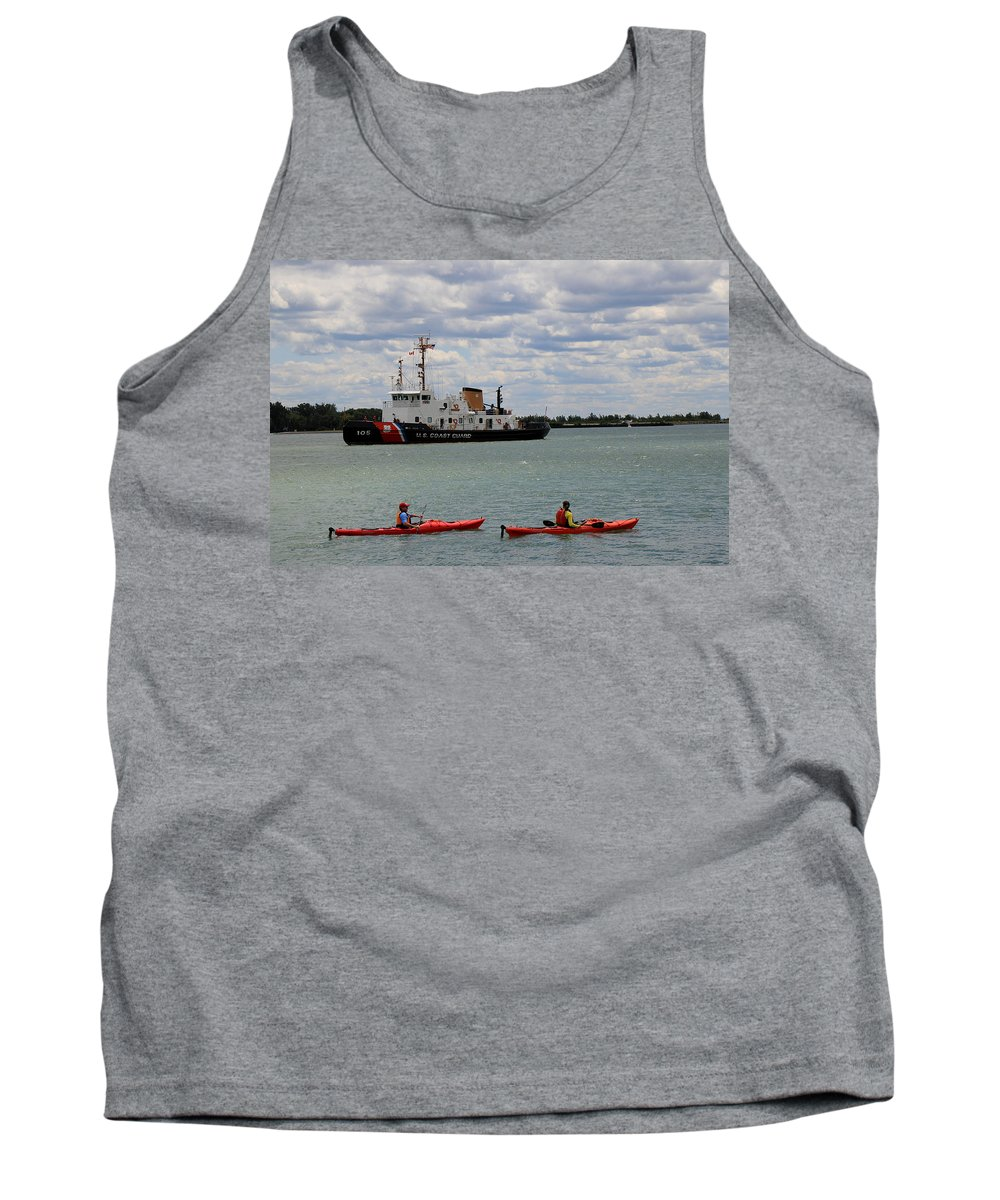 Coast Guard Tank Top featuring the photograph Coast Guard In Canada by Andrew Fare