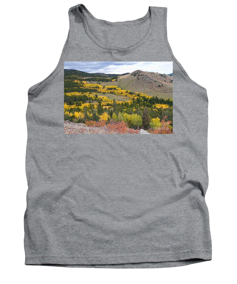 Colorful Tank Top featuring the photograph Colorado Autumn Aspens Colors by James BO Insogna