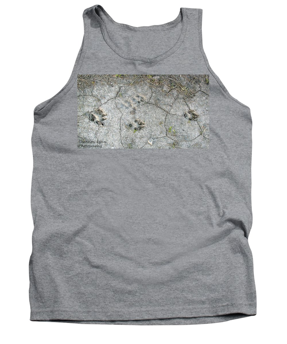 Coyote Tank Top featuring the photograph Coyote Tracks by Shannon Nolting