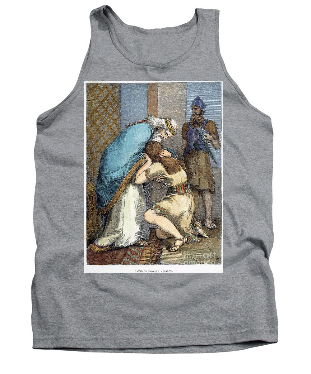 Absalom Tank Top featuring the photograph David & Absalom by Granger