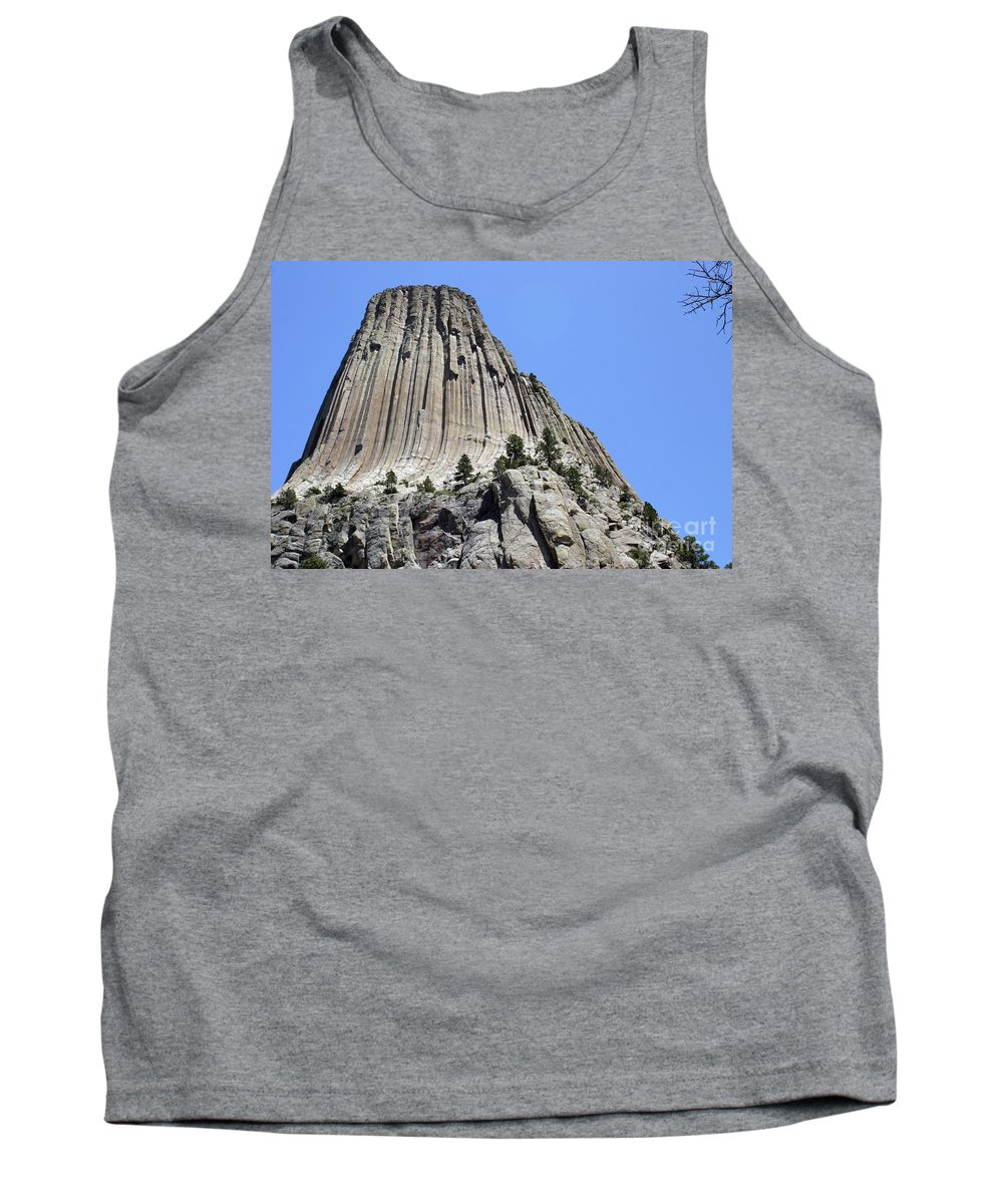 Devil's Tower Tank Top featuring the photograph Devil's Tower Full View by Living Color Photography Lorraine Lynch