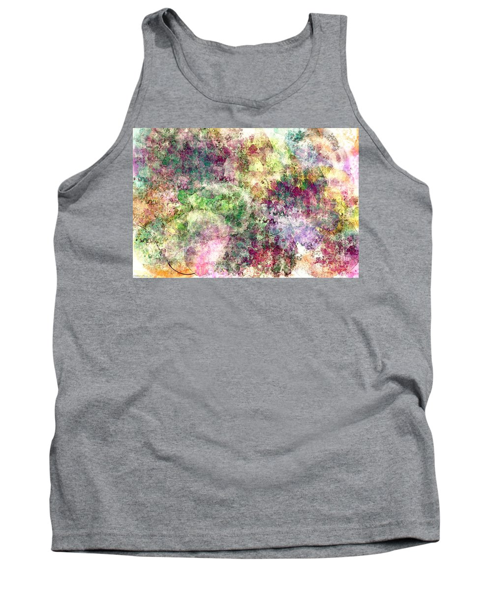 Abtract Tank Top featuring the digital art Digital Abstract by Debbie Portwood