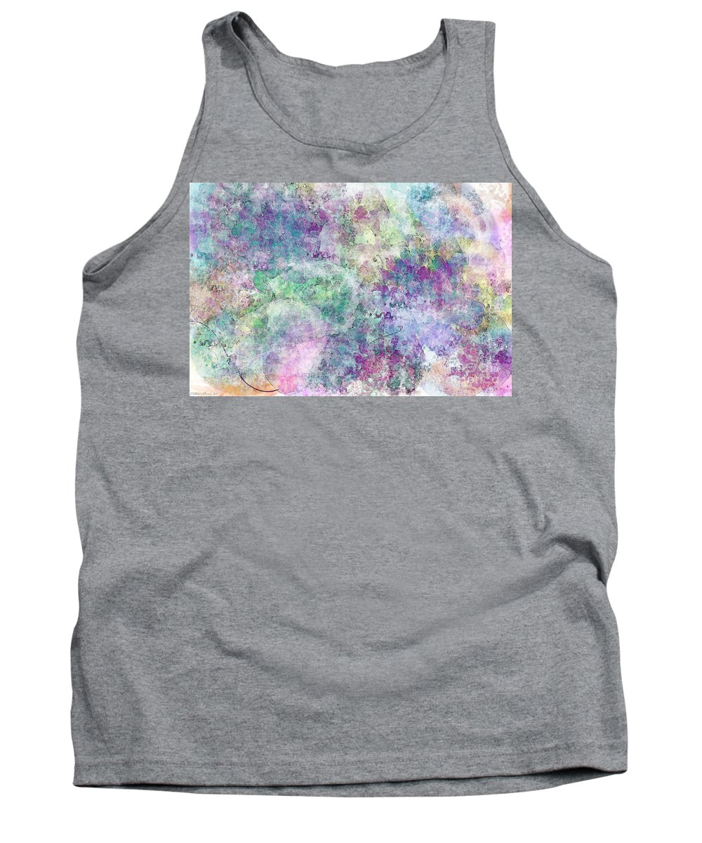 Abtract Tank Top featuring the digital art Digital Abstract II by Debbie Portwood