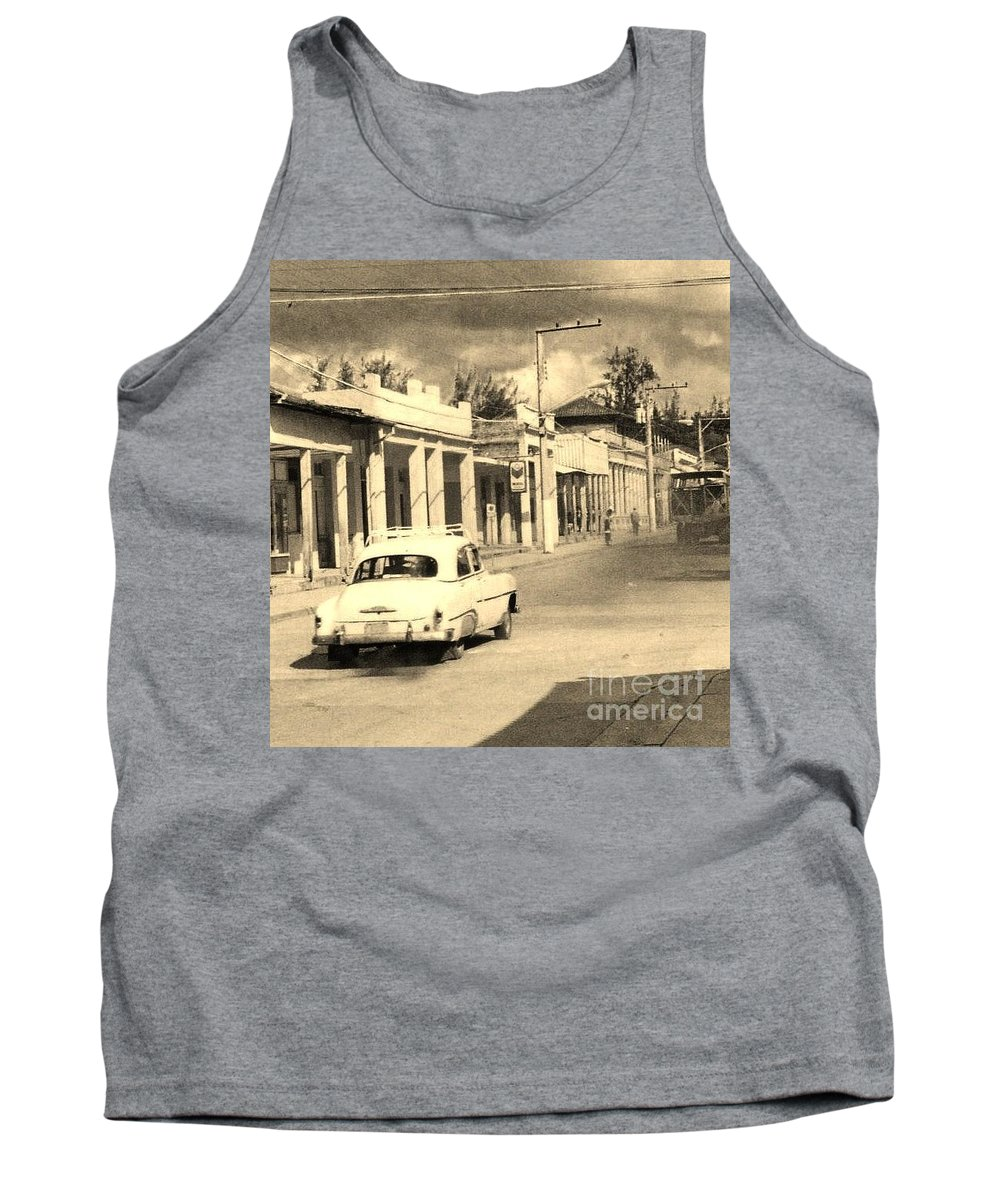 Car Tank Top featuring the photograph Dusty Old Town by John Malone